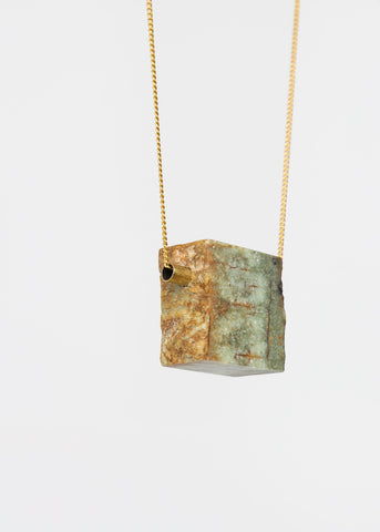 Rough Erode Stone Necklace