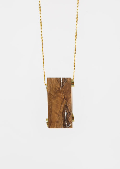 Stable State Oak Maderite Wood Necklace — New Classics Studios