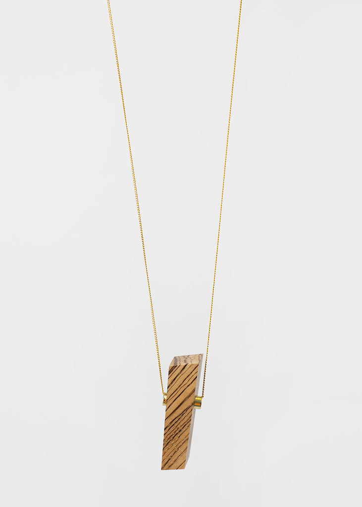 Stable State Zebra Wood Maderite Necklace — New Classics Studios