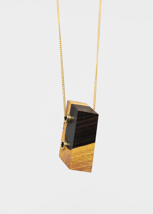 Stable State Ebony Maderite Wood Necklace — New Classics Studios