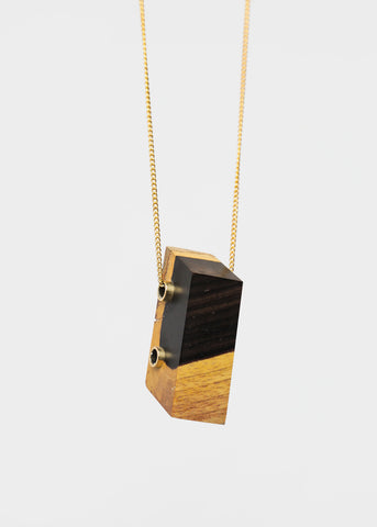 Ebony Maderite Wood Necklace