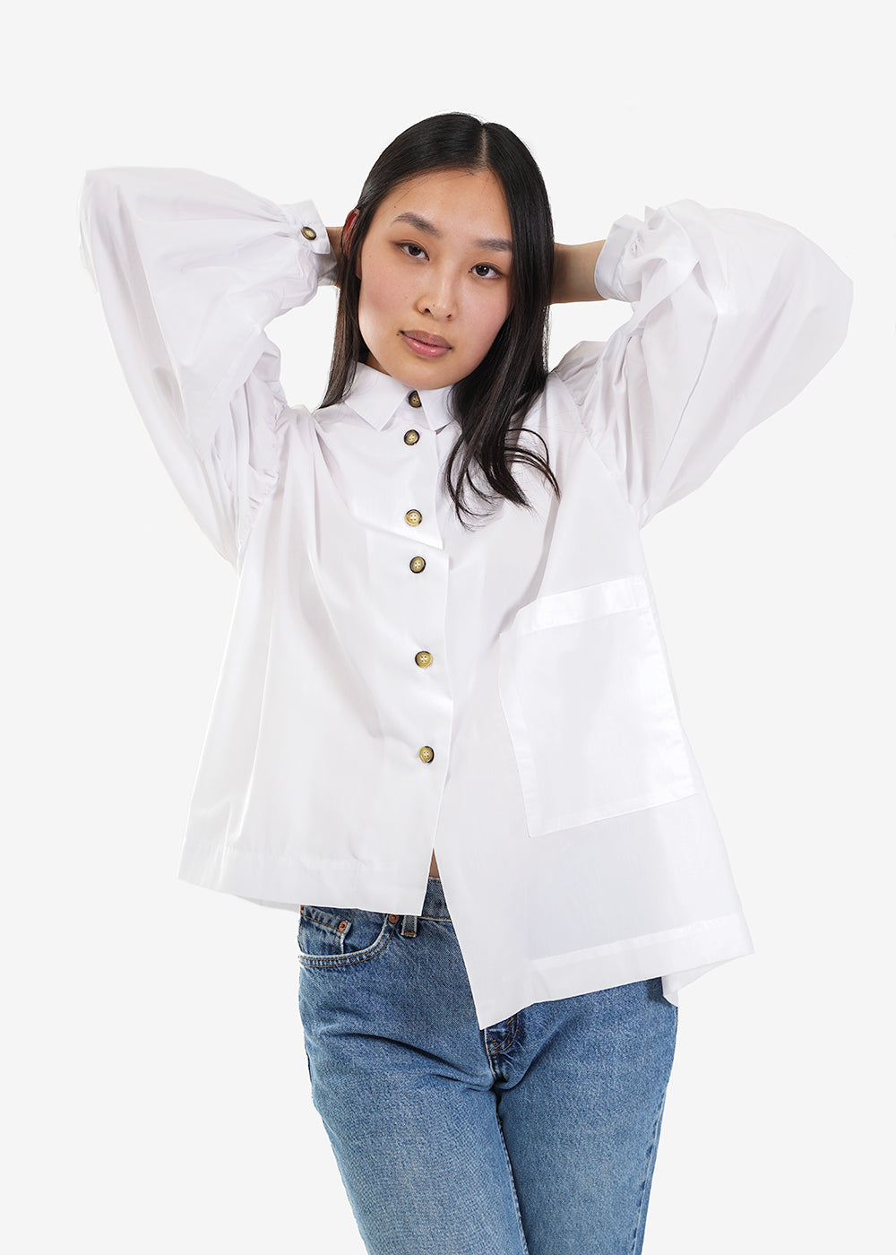 Tigre et Tigre White Elisa Top — Shop sustainable fashion and slow fashion at New Classics Studios
