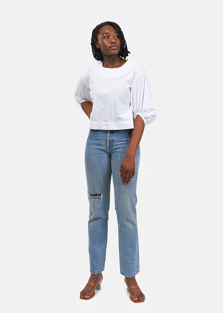 Tigre et Tigre White Rebecca Top — Shop sustainable fashion and slow fashion at New Classics Studios