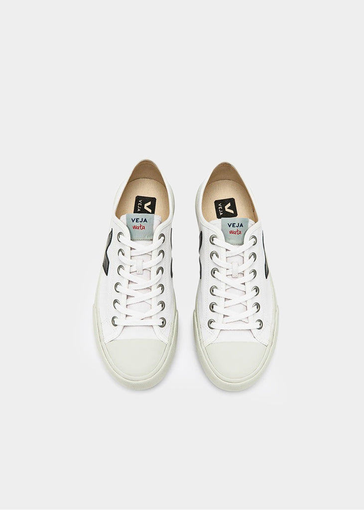 Veja White Black Wata Canvas Sneaker — Shop sustainable fashion and slow fashion at New Classics Studios