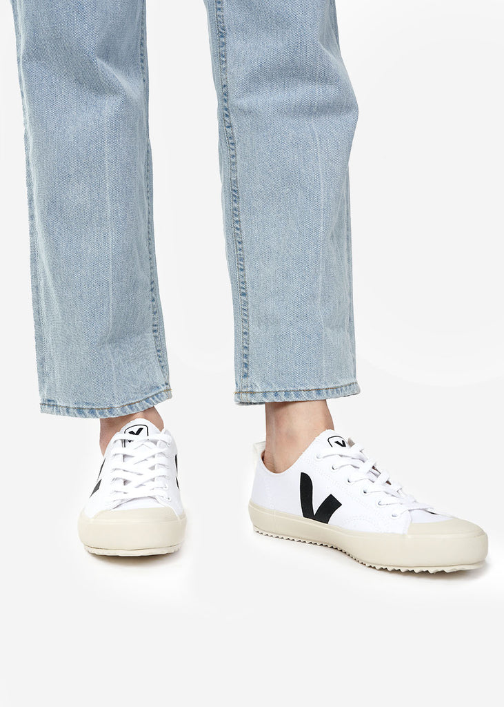 Veja White Black Nova Sneakers — Shop sustainable fashion and slow fashion at New Classics Studios