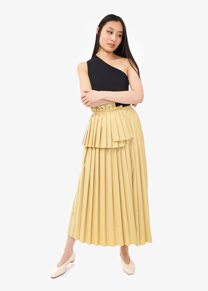 WNDERKAMMER Long Pleats Skirt — Shop sustainable fashion and slow fashion at New Classics Studios