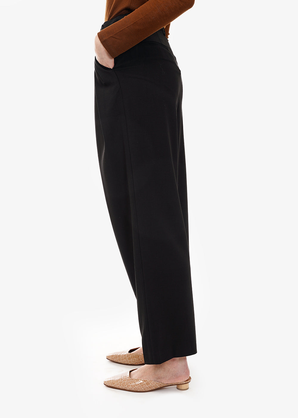 WNDERKAMMER Zigzag Wide Trousers — Shop sustainable fashion and slow fashion at New Classics Studios