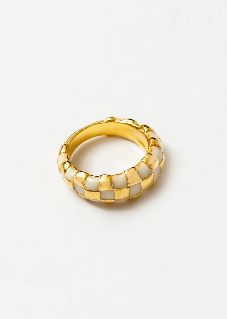 Gold/Cream Libby Ring