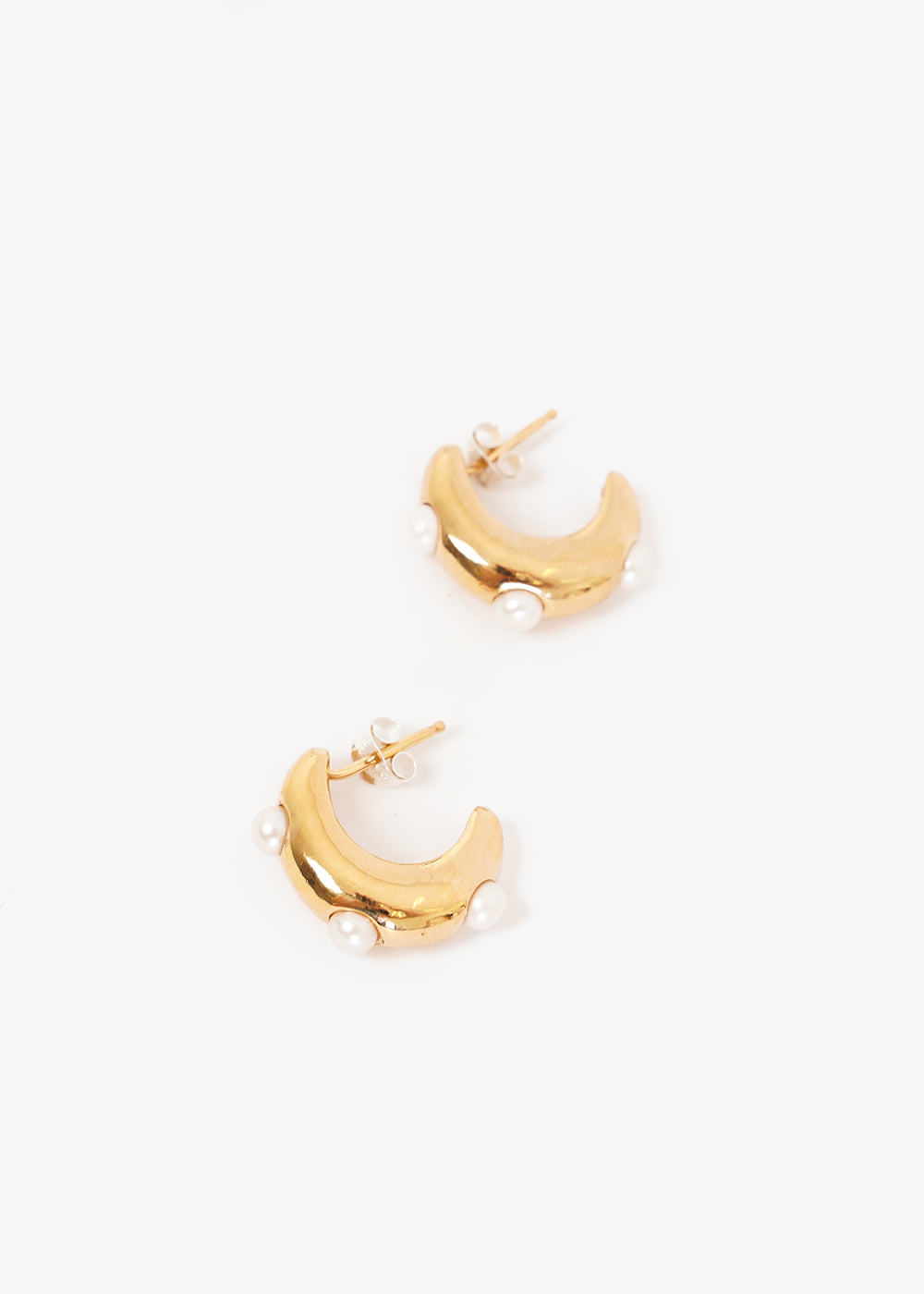 Wolf Circus Gold Isla Pearl Earrings — Shop sustainable fashion and slow fashion at New Classics Studios