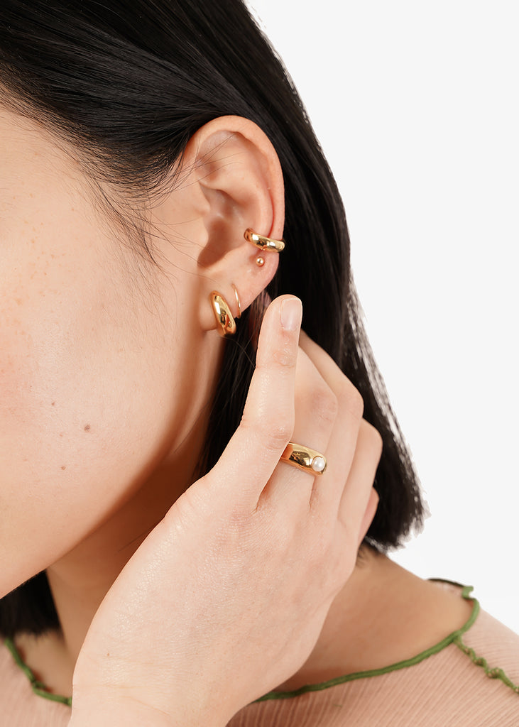 Wolf Circus Gold Nova Hoops — Shop sustainable fashion and slow fashion at New Classics Studios