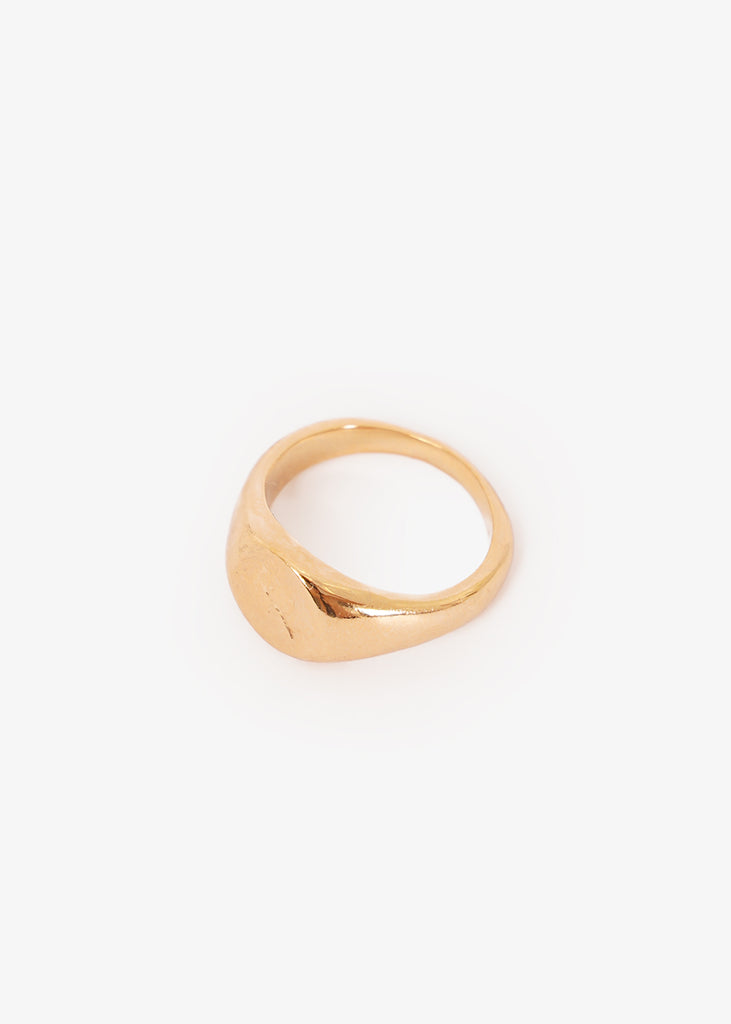 Wolf Circus Gold Rosie Signet Ring — Shop sustainable fashion and slow fashion at New Classics Studios