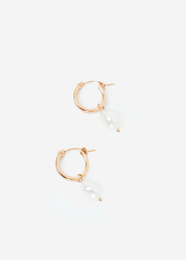 Wolf Circus Small Pearl Hoops — Shop sustainable fashion and slow fashion at New Classics Studios