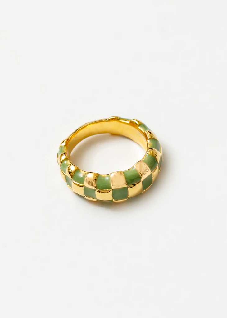 Gold/Green Libby Ring