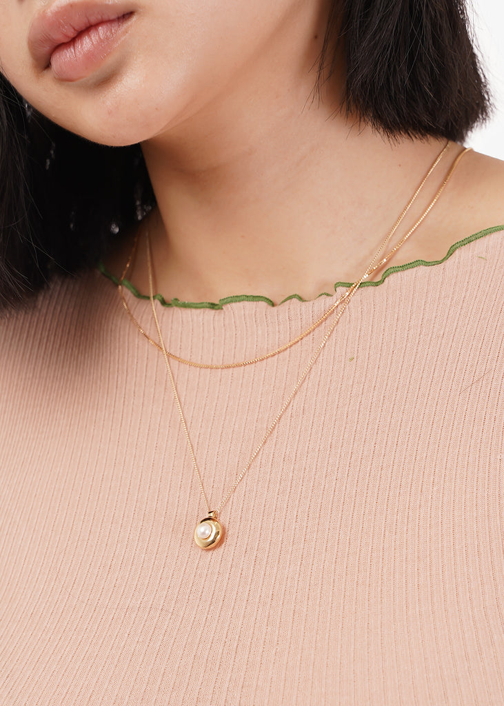 Gold Clea Chain Necklace