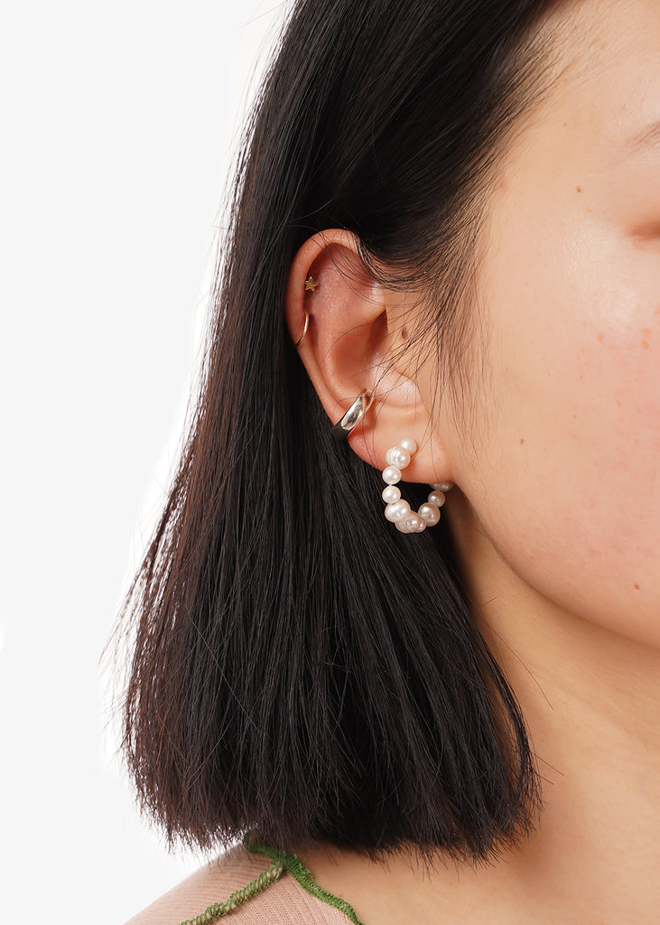 Wolf Circus Silver Jessa Ear Cuff — Shop sustainable fashion and slow fashion at New Classics Studios