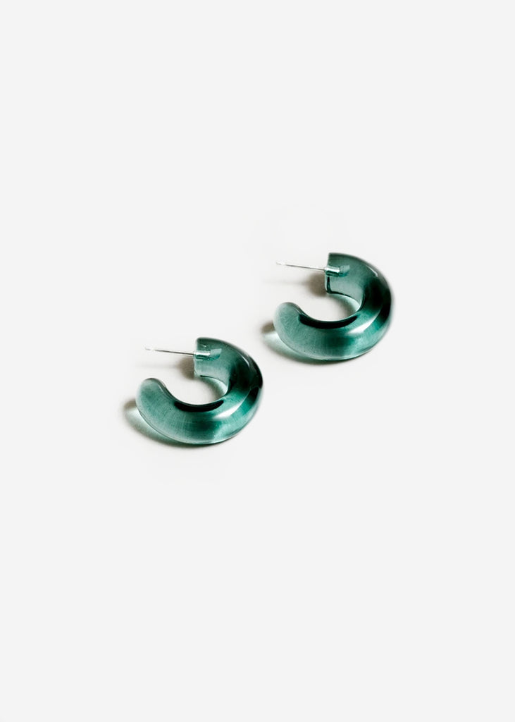 Turquoise Small Glass Hoops - New Classics Studios