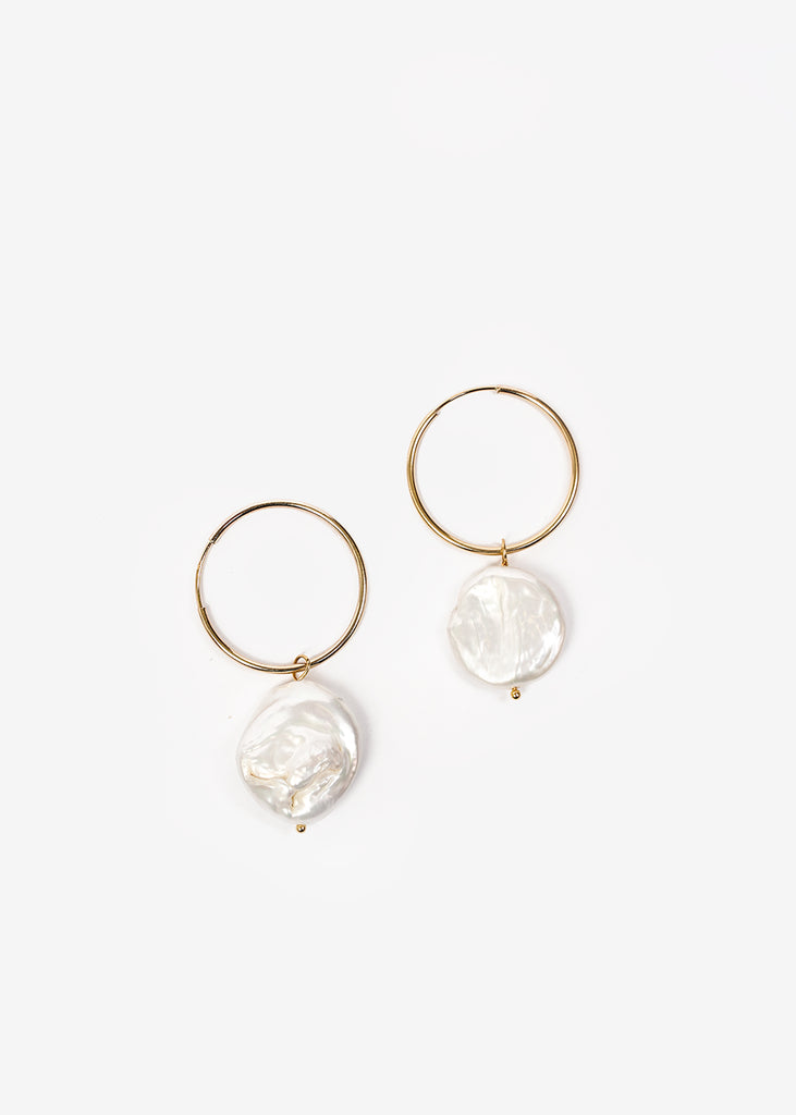Wolf Circus Pearl Hoop Earrings — Shop sustainable fashion and slow fashion at New Classics Studios