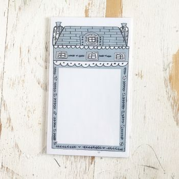 TPS Sticky Note/Note Pad: House-Large Dusty Blue