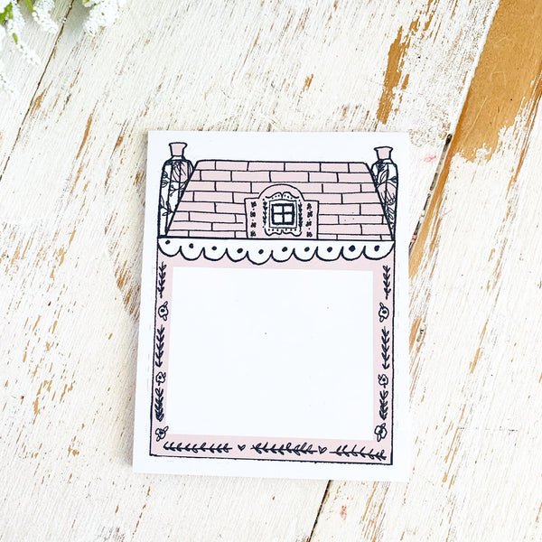 TPS Sticky Note/Note Pad: House-Small Dusty Pink