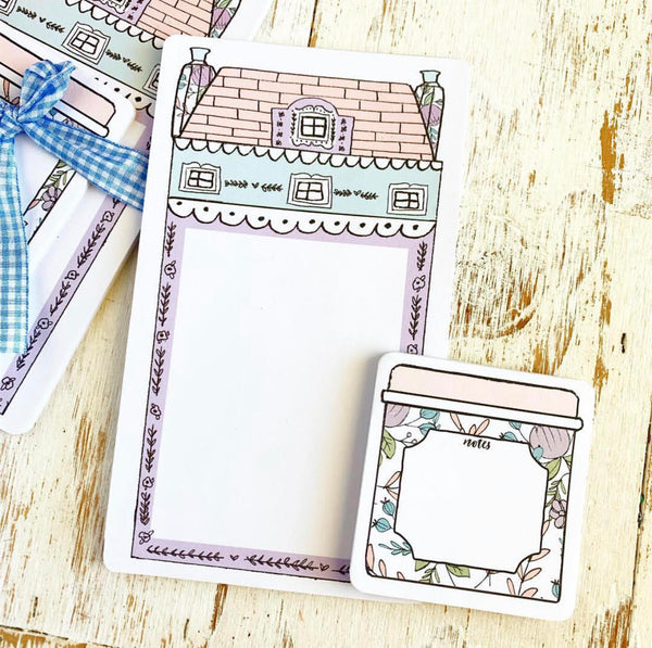 TPS Sticky Note/Note Pad: Pastel House