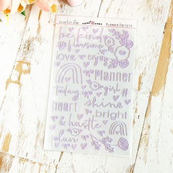 Puffy Stickers: Lavender Foil