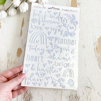 Puffy Stickers: Silver Foil