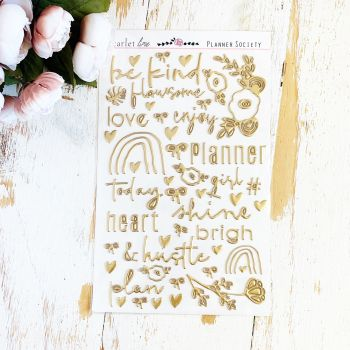 Puffy Stickers: Gold Foil