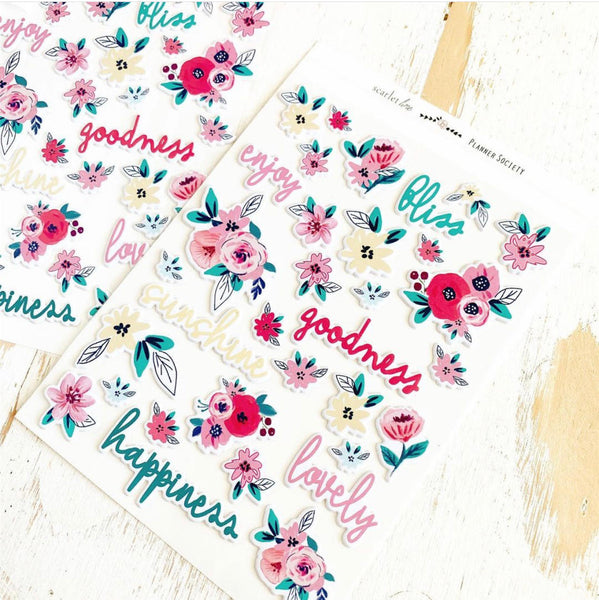 Puffy Stickers: Spring Floral