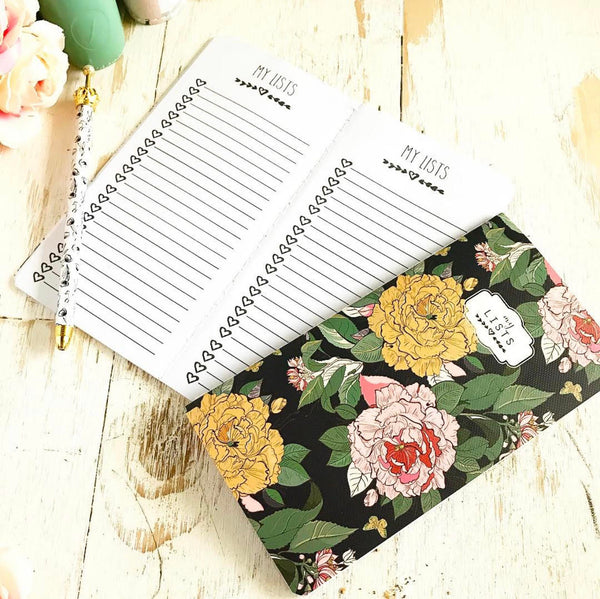 Note Book: Floral Lists