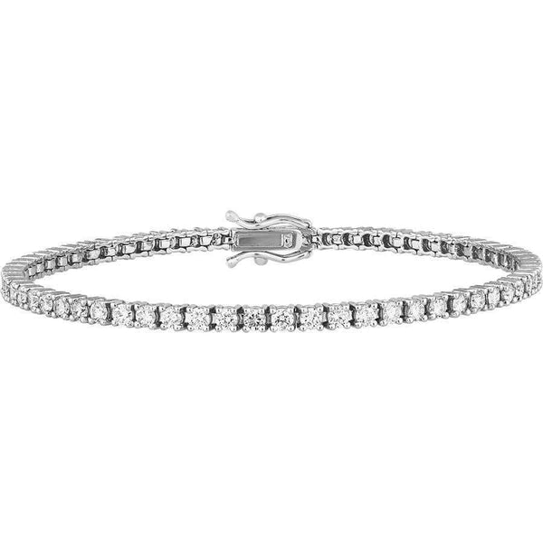 3.00ct Diamond Tennis Bracelet in 18ct White Gold Tennis Bracelets