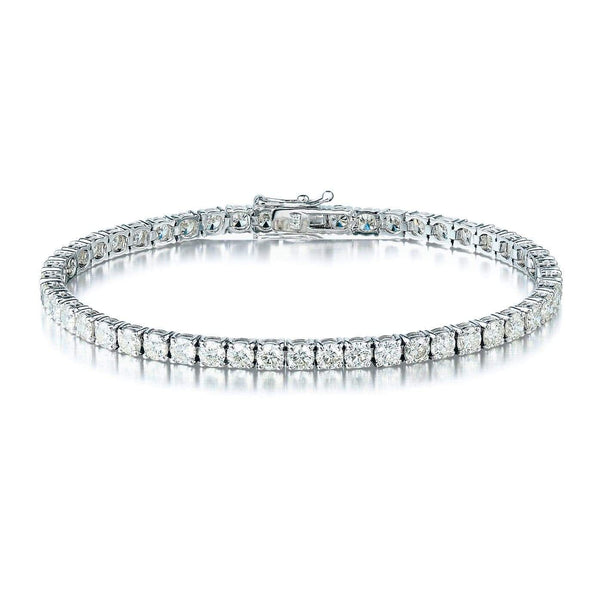 7.00ct Diamond Tennis Bracelet in 18ct White Gold Tennis Bracelets