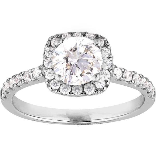 0.54ct Diamond Halo Ring in 14K white Gold