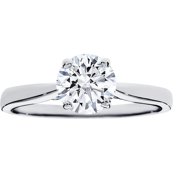 1.00ct Diamond Solitaire Ring in 18ct White Gold