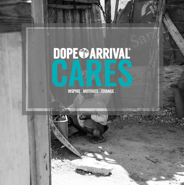 Dope Arrival Cares banner