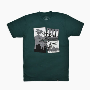 The Dope Life Tee in Forest