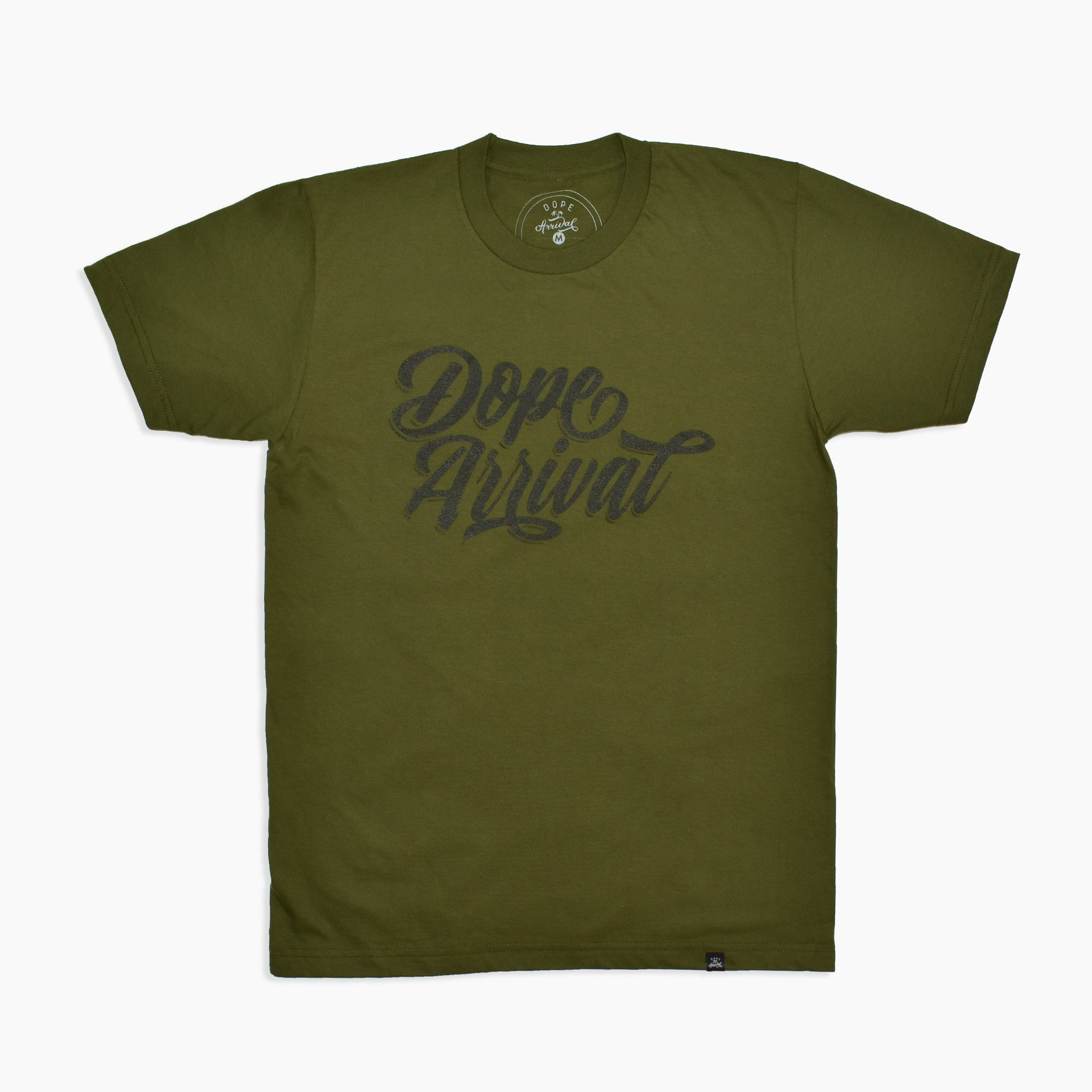 Dope Script Tee in Green