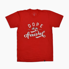 Unaligned Tee in Red