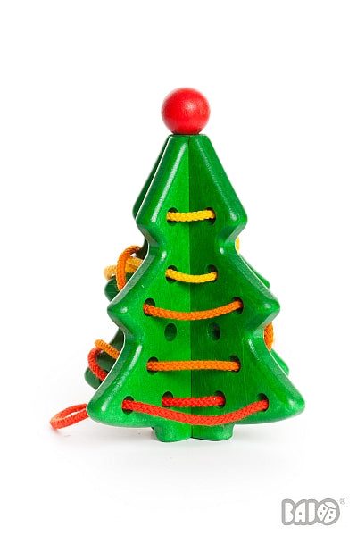 Wooden Lacing Christmas Tree