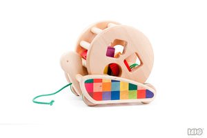 Wooden Snail Sort-Roller Pull/Push Toy