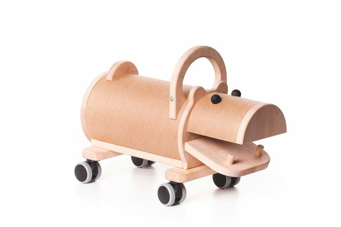 Wooden Hippo Ride On