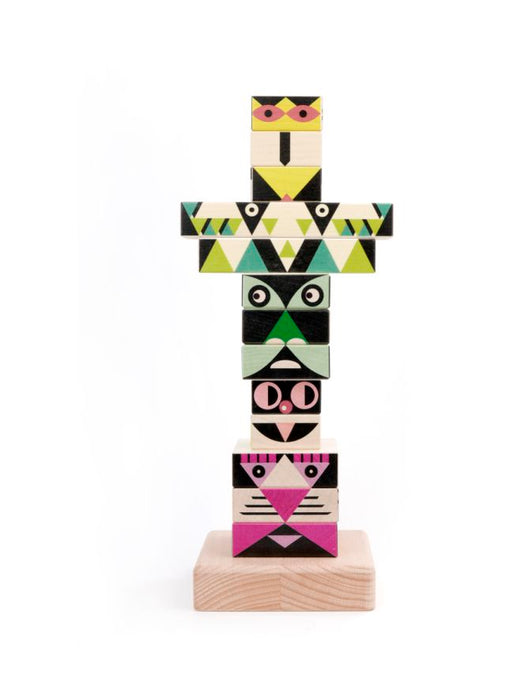 Wooden Totem Pole Stacker