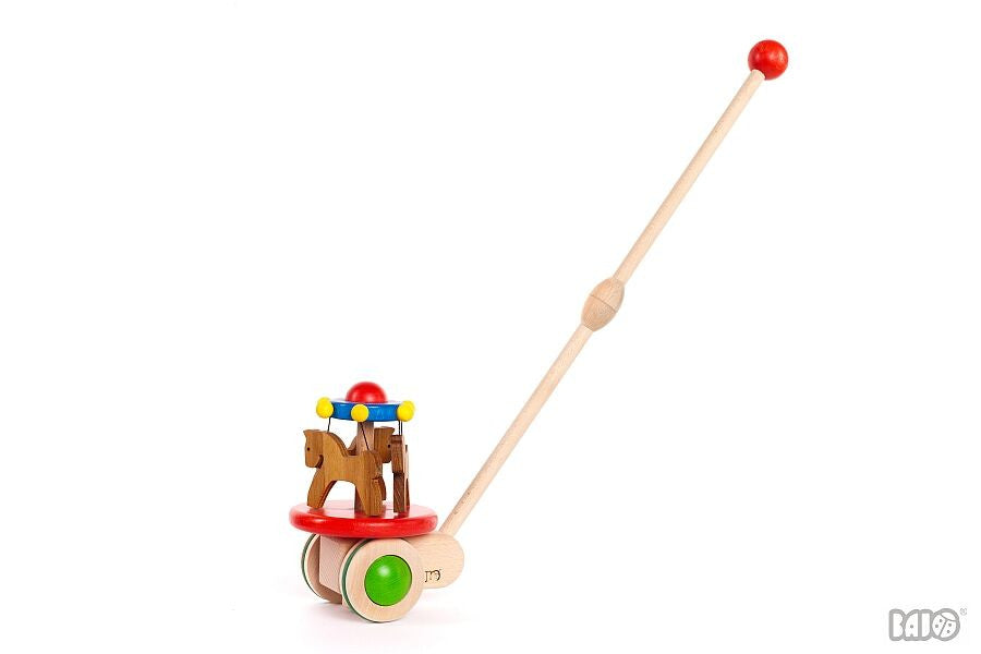 Wooden Carousel Push/Pull Toy