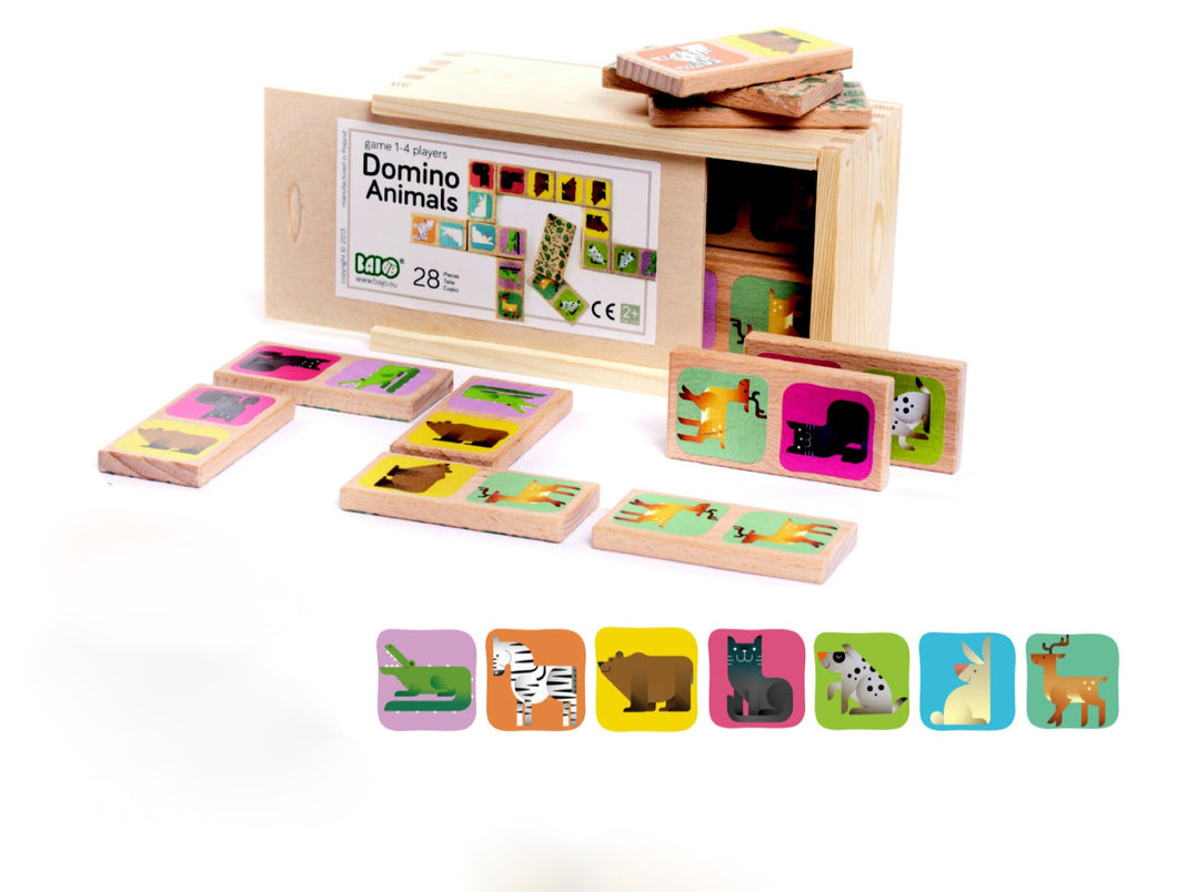 Wooden Domino Animals