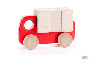 Wooden Car w/ Blocks
