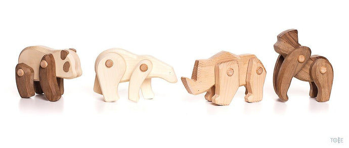 Wooden Endangered Animals