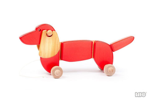 Wooden Dachshund Dog Pull/Push Along Toy