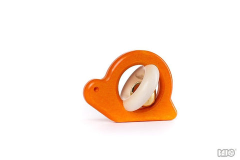 Wooden Snail Rattle