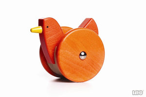 Wobbling wooden chicken
