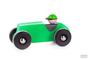 Wooden Retro Racing Car