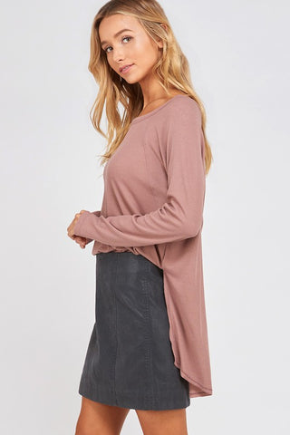 Favorite Ribbed Top in Blush